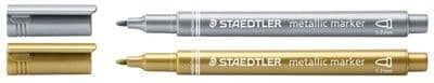 STAEDTLER METALLIC MARKER PENS GOLD & SILVER like POSCA - Singles or Twin Pack