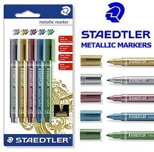 STAEDTLER METALLIC MARKER PENS like POSCA - Singles or Pack of 5