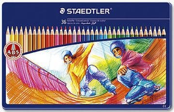 STAEDTLER NORRIS CLUB COLOURING PENCILS - GIFT TIN of 36 Colouring Pencils