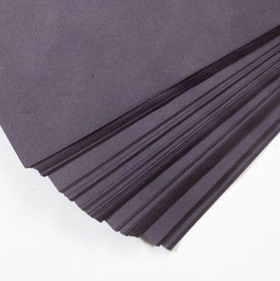 SUGAR PAPER A4 BLACK COLOURED PAGES - Pack of 100 Sheets