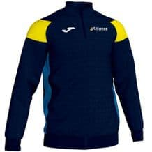 Alliance Swimming Club Joma Crewe III 1/4 Zip Sweatshirt Navy/Yellow/Royal Adults 2020