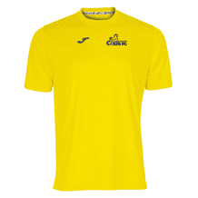 Carryduff Colts Joma Combi S/S T-Shirt Yellow Adult