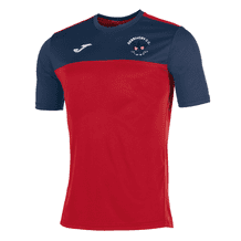 Derriaghy Cricket Club Joma Winner S/S Shirt Red/Navy Adult