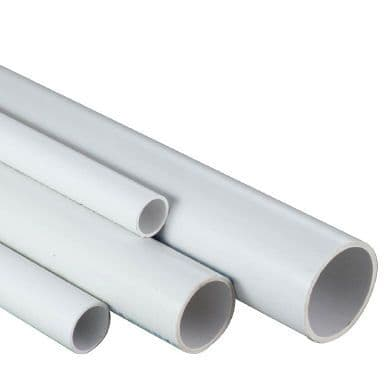 """1.5"""" White ABS Class C Pipe - 15m Pack (5 x 3m lengths)"""