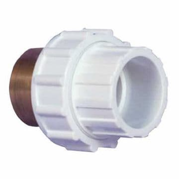 "1.5"" White ABS Composite Union Female Threaded/Female Plain (FT/FP)"