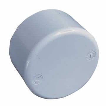 "1.5"" White ABS End Cap Plain"