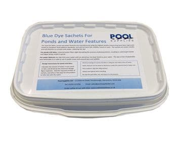 Blue Water Dye Sachets for Ponds, Lakes & Water Features - 1kg (10x 100g Sachets)