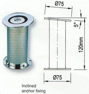 Inclined Anchor Fixing - Dia 43mm