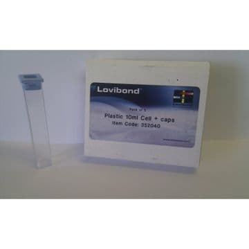 Lovibond Test Tube - Plastic Square with Stoppers - Pack of 5
