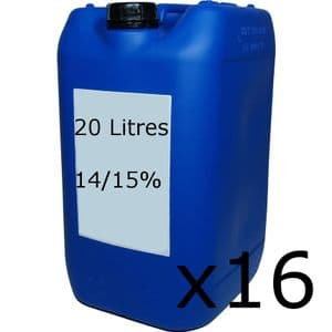 Sodium Hypochlorite 14/15% Strength - Half Pallet 16 x 20 Litre Containers