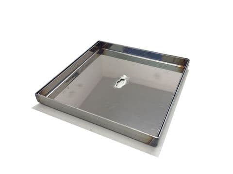 Stainless Steel Lid Tray for Deck Boxes 180x180mm