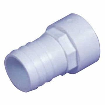 "1.5"" White ABS Plain Hosetail"
