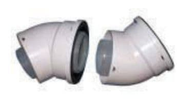 Genie Flue - 45 Degree Bends (pair) - Discount Pool Products