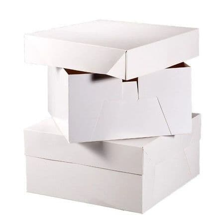 10 INCH White Square Cake Box with Lid