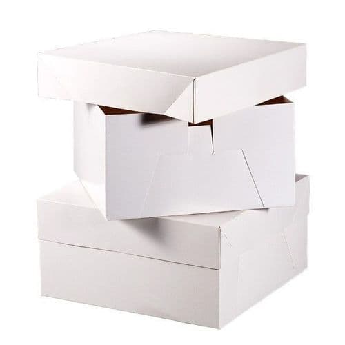 12 INCH White Square Cake Box with Lid