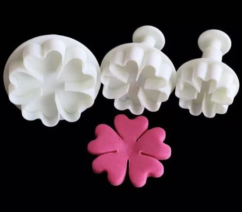 3 pack Flower Clover Plunge Cutters