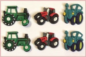 6 x Tractor Charms