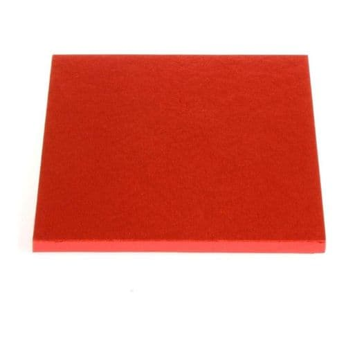 8 inch Red Square Cake Drum