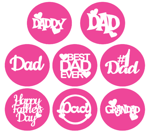 Father's Day cupcake / Cookie stamps x 8