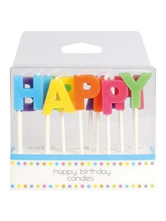 Happy Birthday Letter Candles - 13 Pack