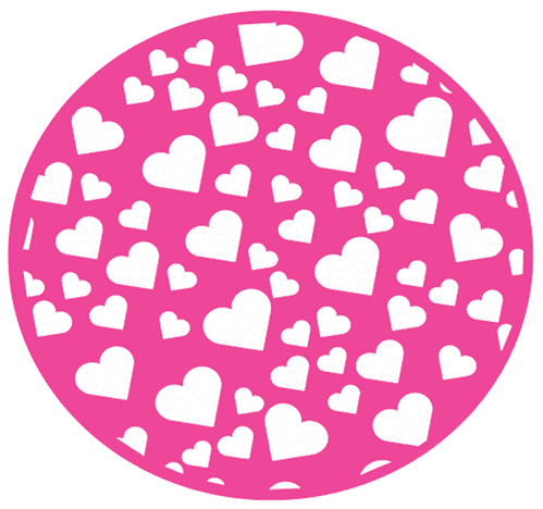 Heart Confetti Pattern stamp