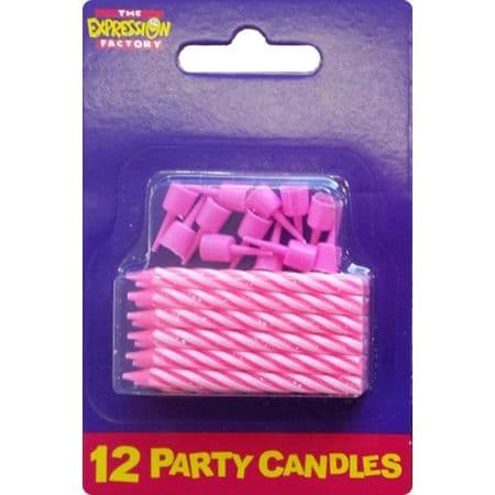 Pink Candles - 12 pack