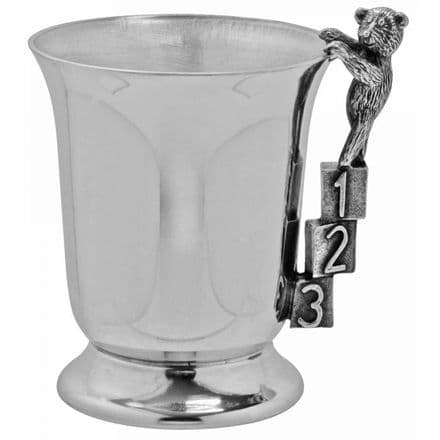 123 Teddy Child's Pewter Cup
