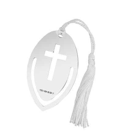 Hallmarked Sterling Silver Bookmark with Cross