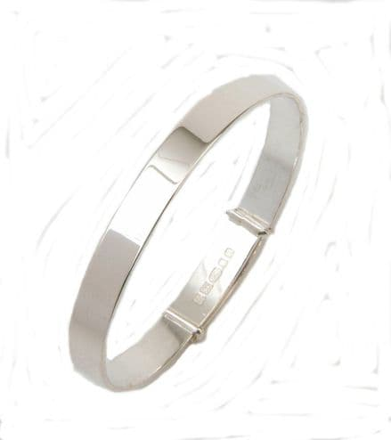 Plain Hallmarked Sterling Silver Expanding bangle