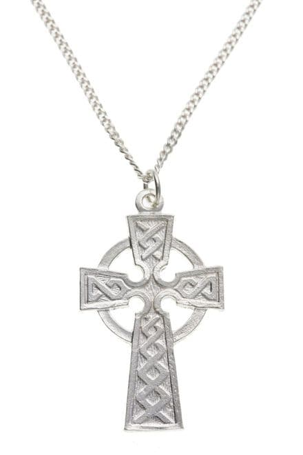 Silver Celtic Cross with Chain