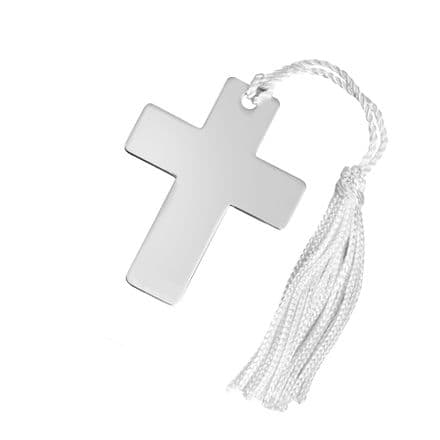 Silver Plated Cross Shaped Bookmark