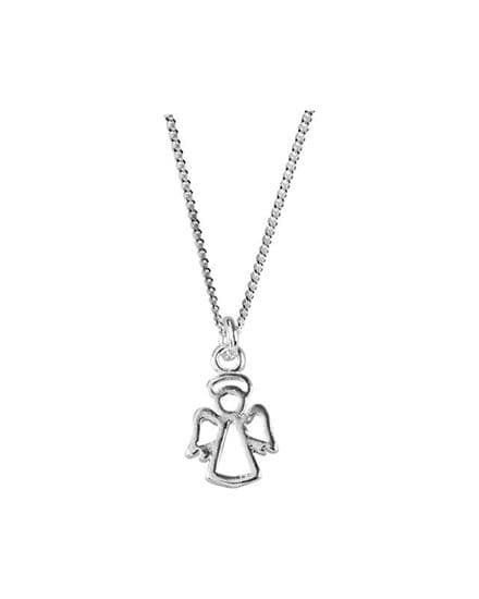 Sterling Silver Guardian Angel Pendant with 40cm chain