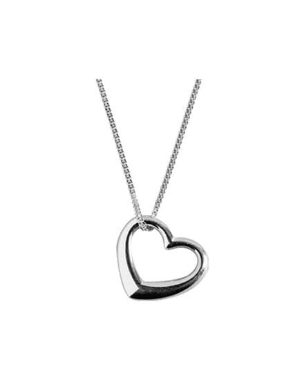 Sterling Silver Open Heart Pendant with 40cm chain