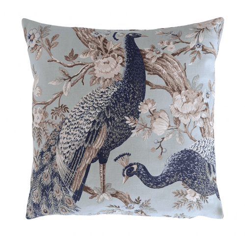 """16"""" Cushion Cover in Laura Ashley Belvedere Peacock Duckegg Blue"""