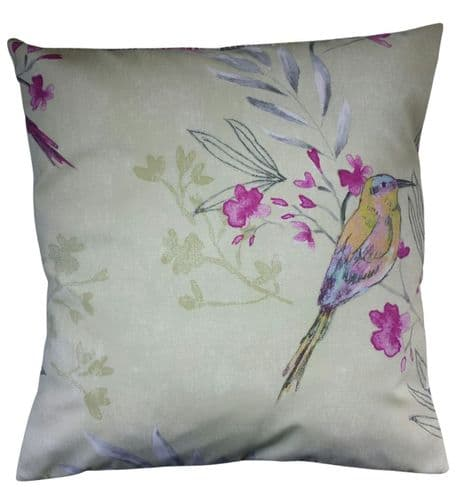 """16"""" Cushion Cover in Next Bright Bird Matches Bedding Curtains"""