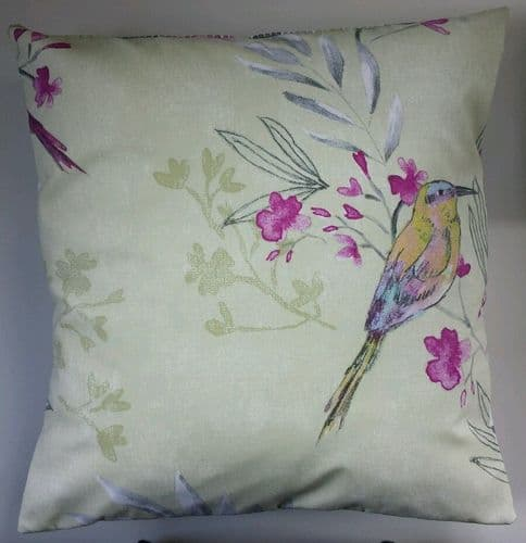 "16"" Cushion Cover in Next Bright Bird Matches Bedding Curtains"