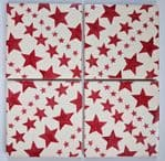 4 Ceramic Coasters in Emma Bridgewater Red Star