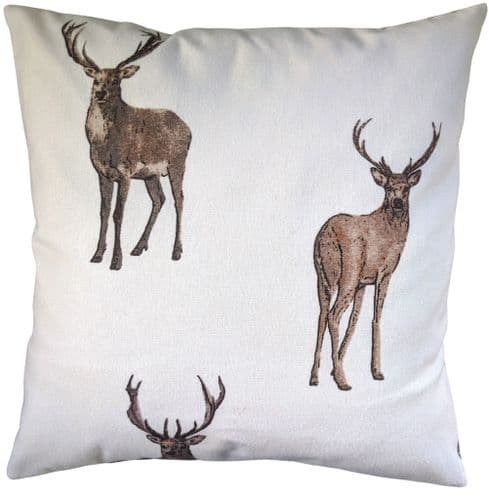 """Brown Stag Brushed Cotton Cushion Cover 16"""""""