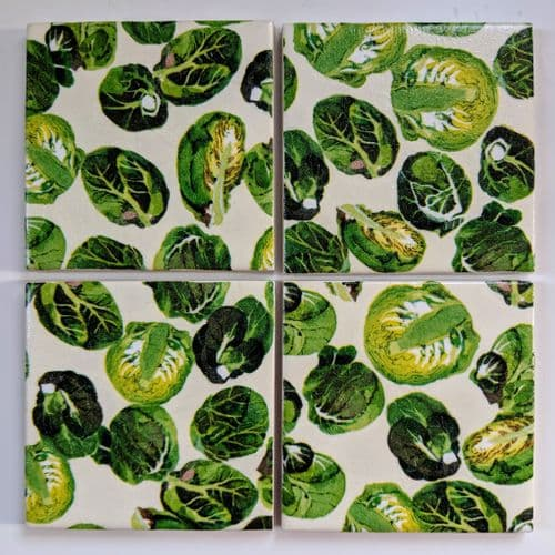 Ceramic Coasters in Emma Bridgewater Christmas Sprouts