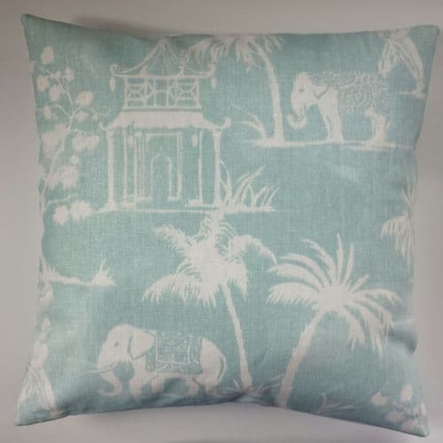 Cushion Cover in Clarke and Clarke Indian Elephant 14