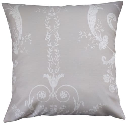 """Cushion Cover in Laura Ashley Josette Damask Taupe 16"""""""