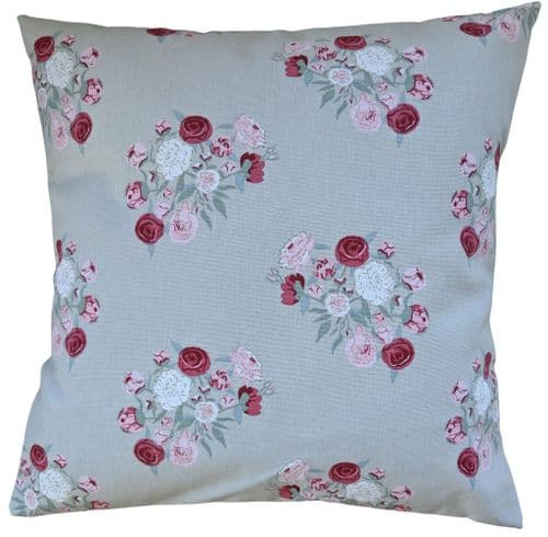 "Cushion Cover in Sophie Allport Pink Peony 14"" 16"" 18"" 20"" 22"" 24"" 26"""