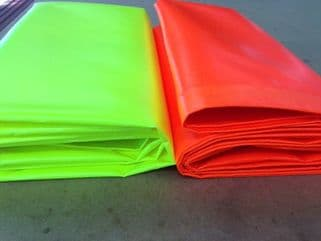 Bright Orange Or Yellow Tarpaulin Various Sizes Available