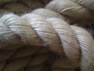 Decking Rope 32mm Natural Looking Polyhemp. Sold by the Metre