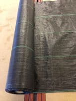 Heavy Duty 105gsm  Woven Weed Control Fabric 50mtr x 3.3mtr wide roll