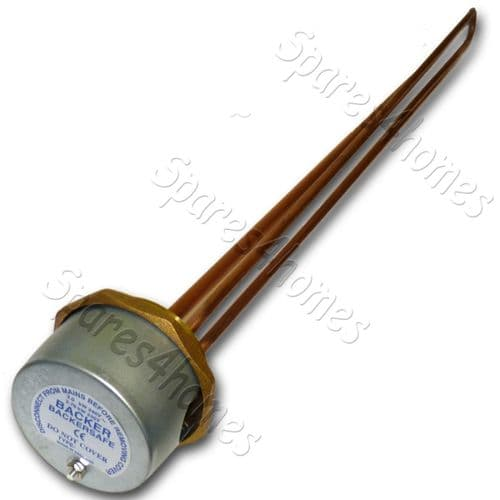 "27"" Immersion Heater Copper Hot Water Element + Thermostat Backersafe"