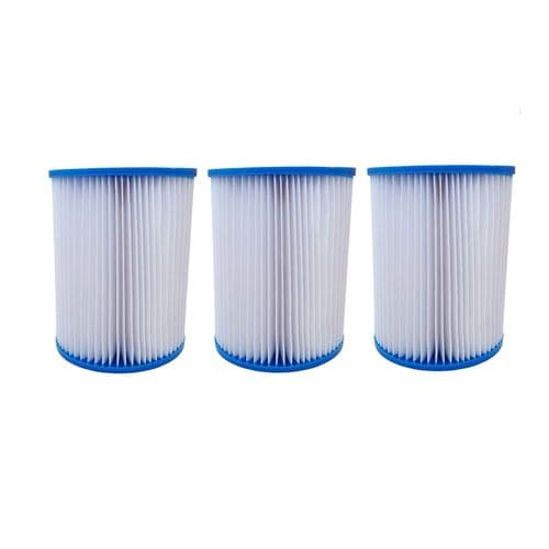 Filter Cartridges X3 For Bestway Type 2, Lay-Z Swimming Pools, Spas, Hot Tubs, Jacuzzi Size II