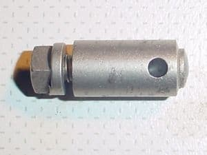 BO 024 C, BOWDEN CONTROL, ROD STOP.           Original old stock. Adequate condition. Nickel plated.