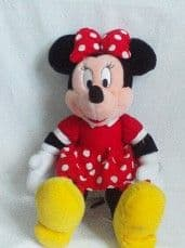 Adorable Disney Big My 1st 'Minnie Mouse' Dotty Red Dress Plush Toy