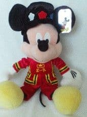 Adorable Disney Store Exclusive Big 'Beefeater' London Mickey Mouse Plush Toy + Tag